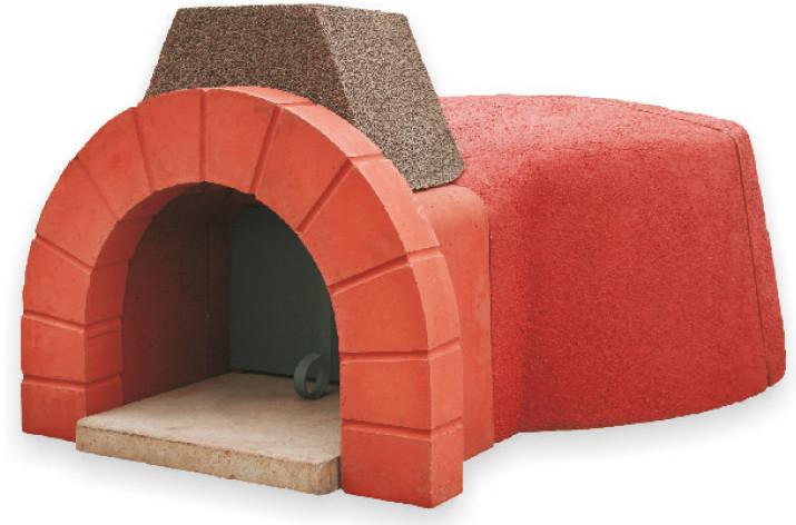 Forno a legna refrattario prefabbricato cm per pizza pane dolci completo ebay - Forno per pizza domestico ...