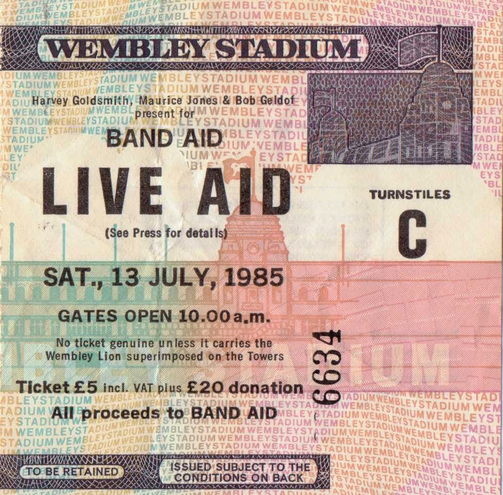 Live Aid 1985 Ticket