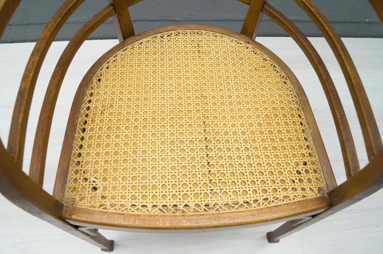 seltener thonet armlehnstuhl stuhl art deco ebay. Black Bedroom Furniture Sets. Home Design Ideas