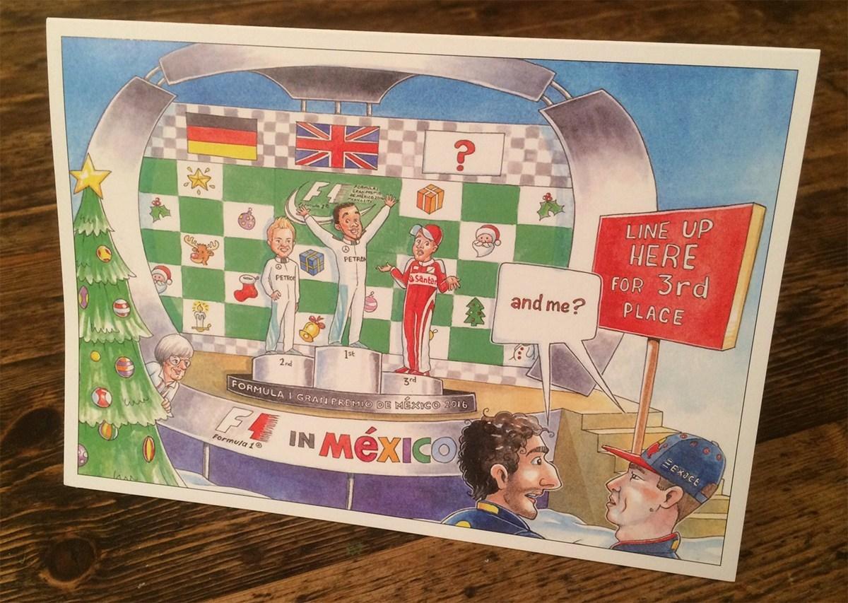 F1 2016 Bernie Ecclestone Christmas Card