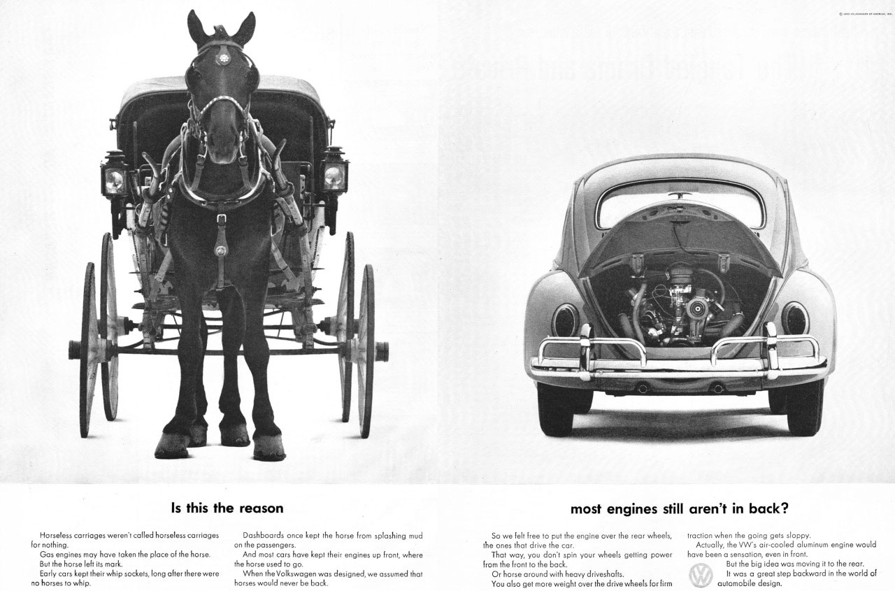 Is this the reason most engines still aren't in back? Volkswagen Beetle.