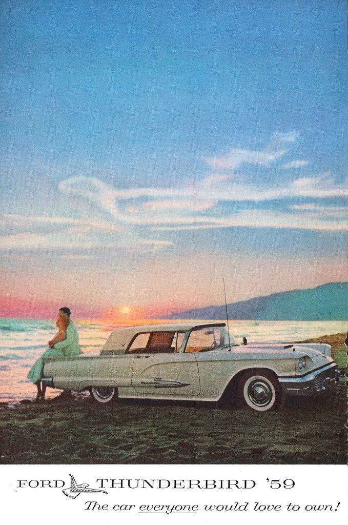 The 1959 Ford Thunderbird. The car everyone would love to own!