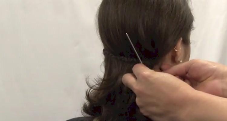 penteado trança lateral passo a passo