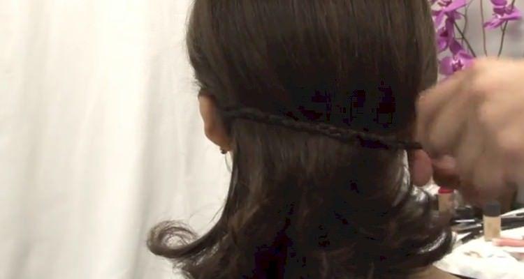 penteado trança cabelo solto