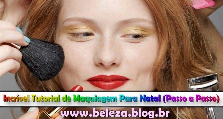 maquiagem de natal
