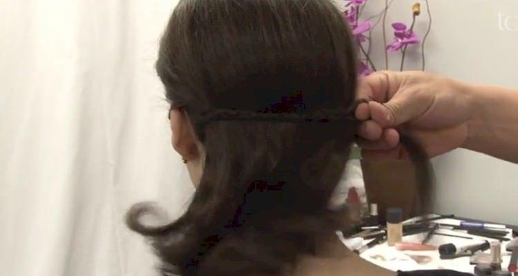 penteado trança embutida passo a passo