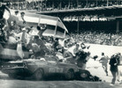 1971 - Eldon Palmer loses the control of the Dodge Challenger pace car at 125 MPH, hitting a stand full of photographers, injuring as many as 30 of them