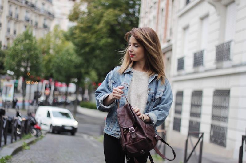 french fashion blog denim jacket