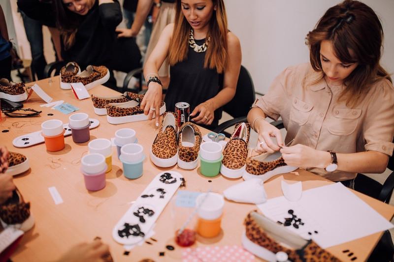 diy leopard shoes chocolate schubar paris