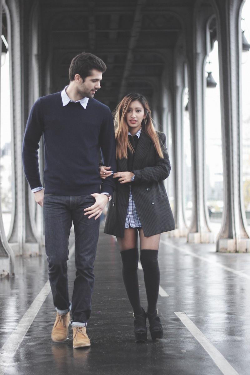 chaussettes hautes noires blog mode paris