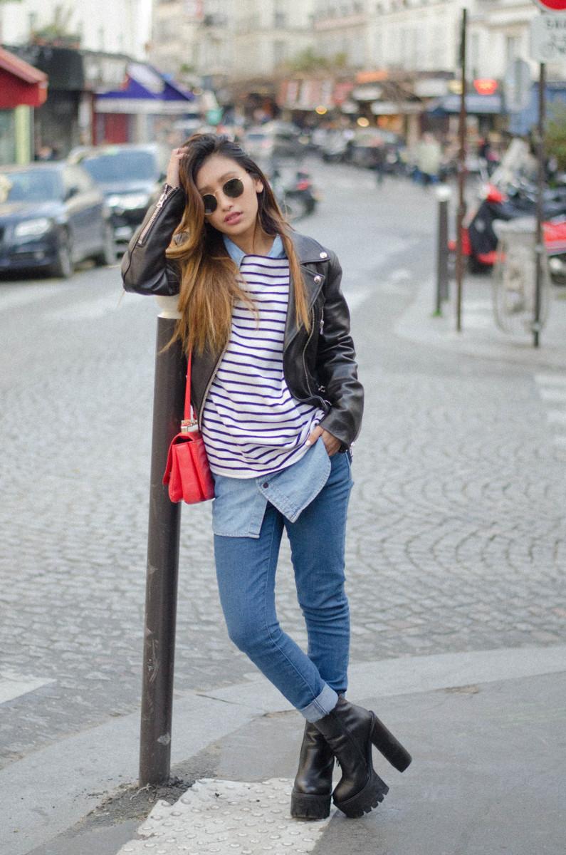 biker jacket acne studios fashion blog