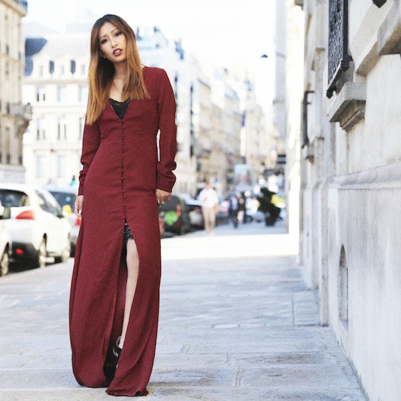 the burgundy dress missguided fashion blog