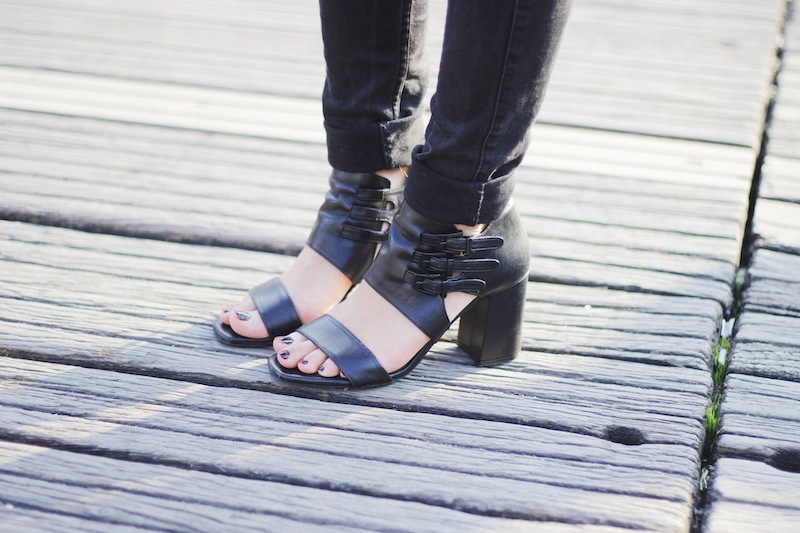 sandales à talons noir zara blog mode