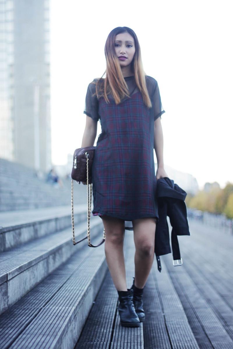 robe à carreaux blog mode