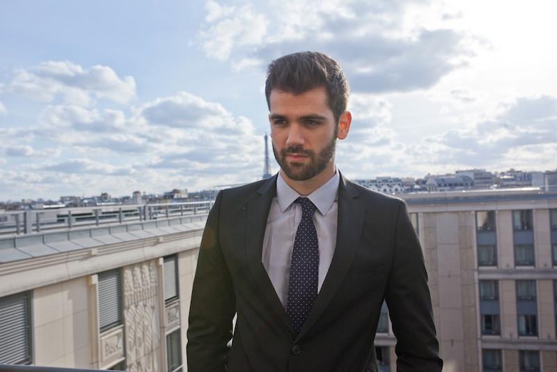 cravate bleu alain figaret blog mode homme
