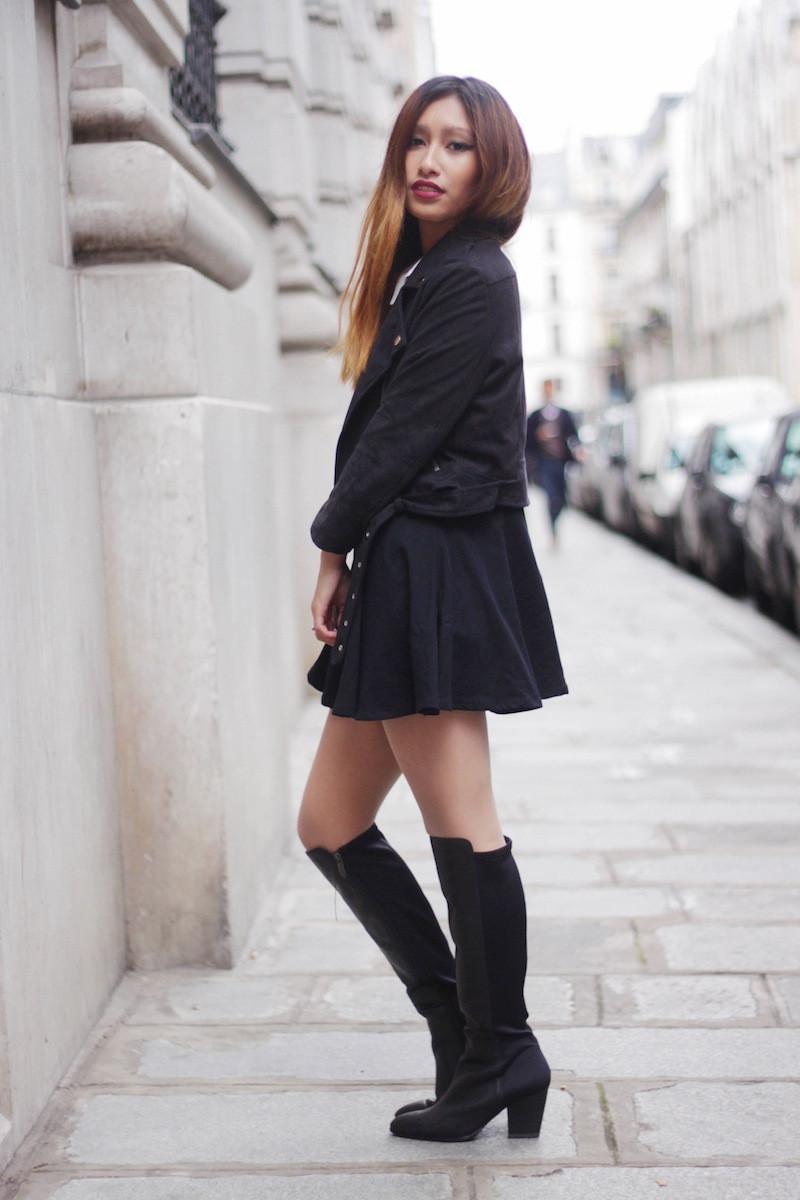 bottes hautes noires tamaris blog mode