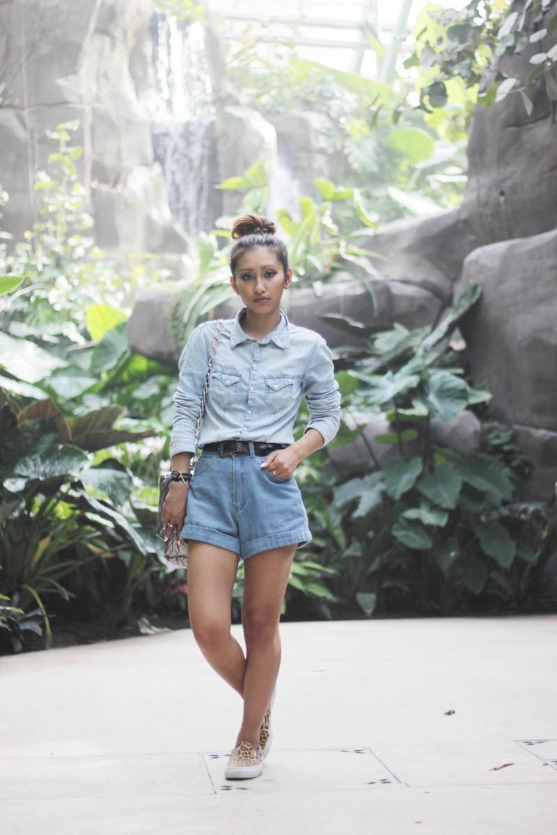 short en jeans taille haute blog mode