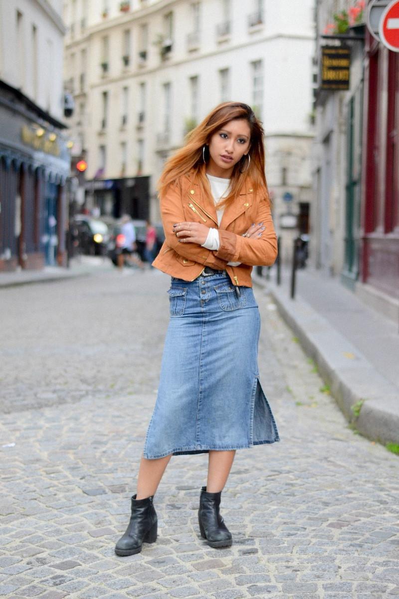 jupe en jeans vintage