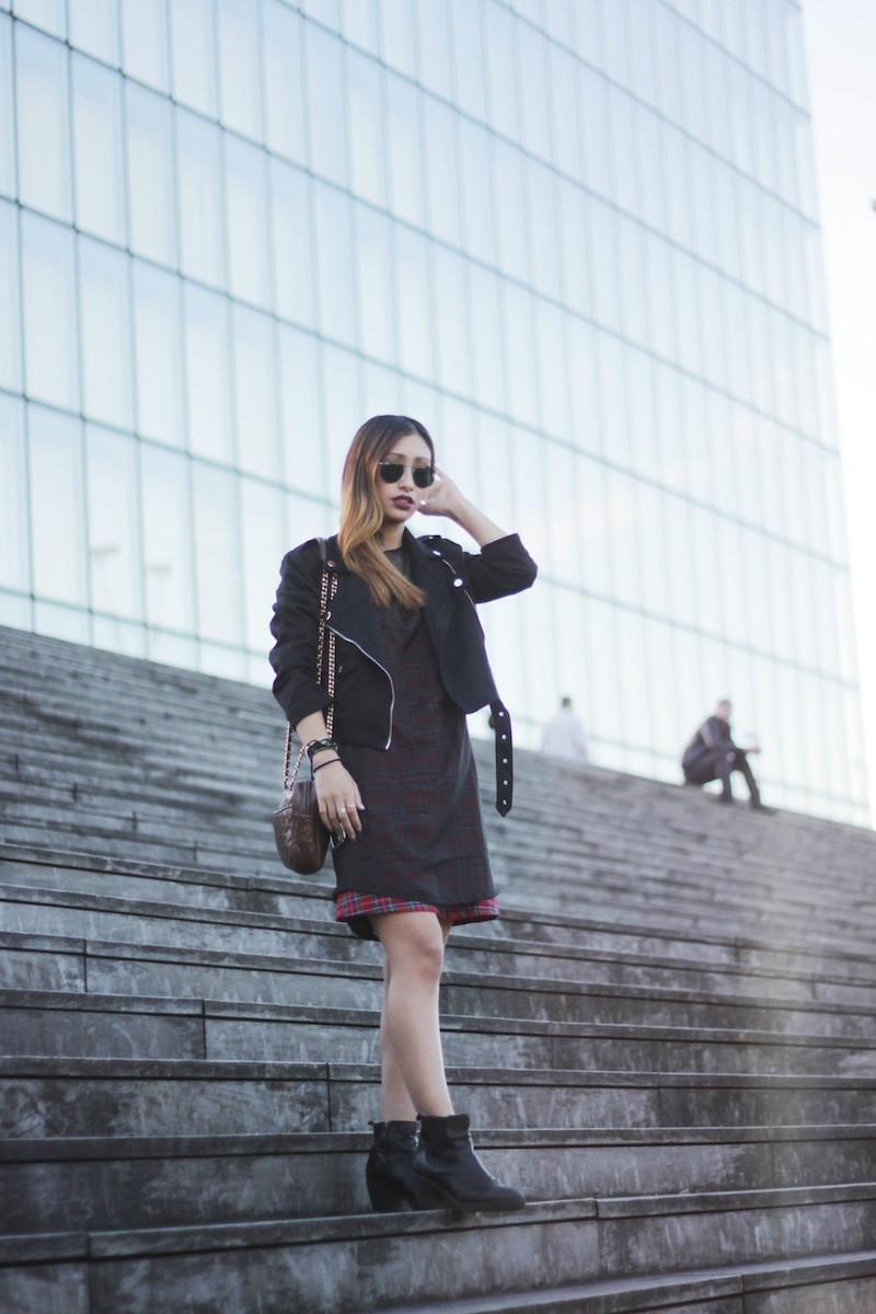 ray ban lunettes de soleil rondes noires blog mode