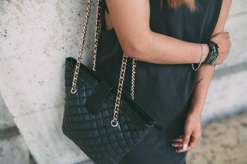 sac matelassé en cuir vintage blog mode