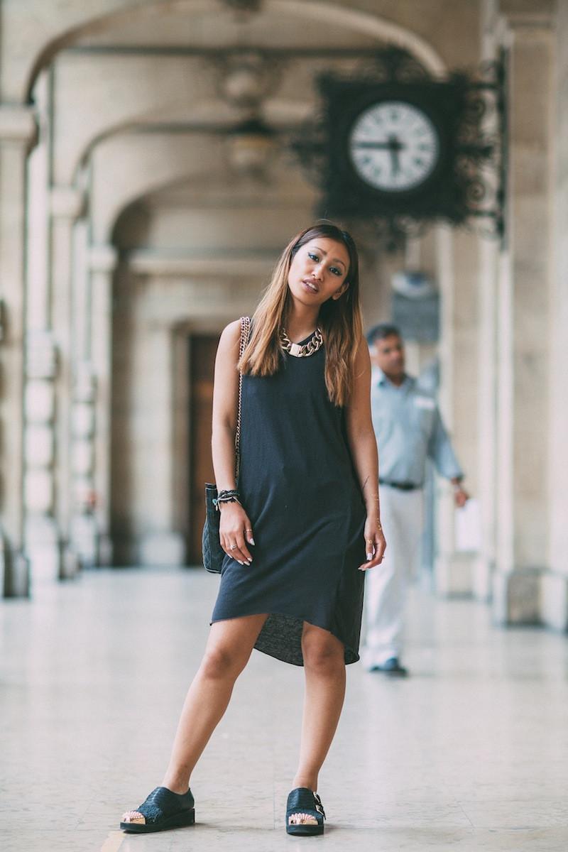 robe longue gris