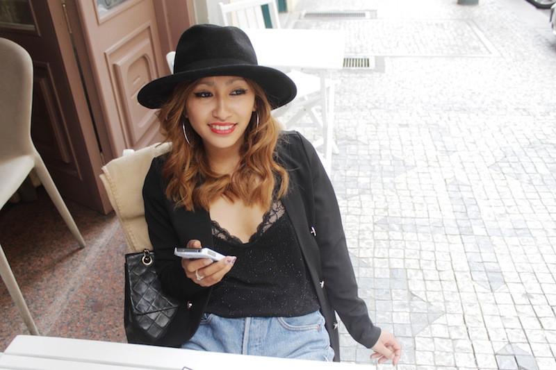 chapeau noir blog mode paris
