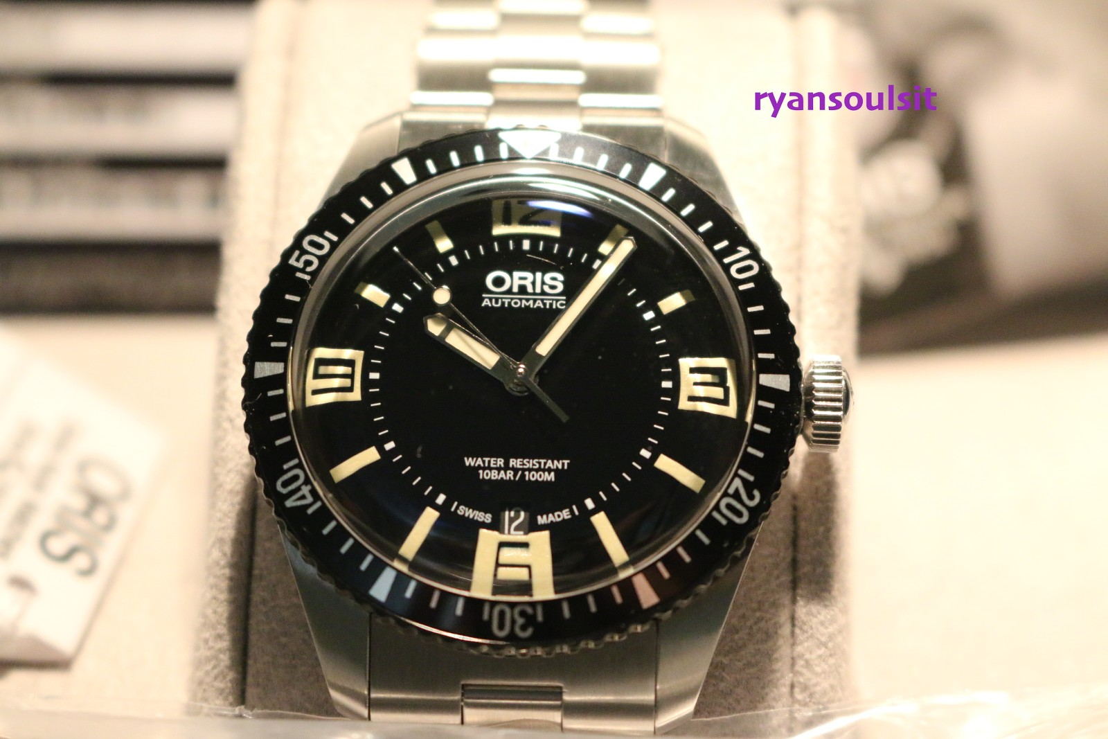 fs oris divers 65 with bracelet and rubber set