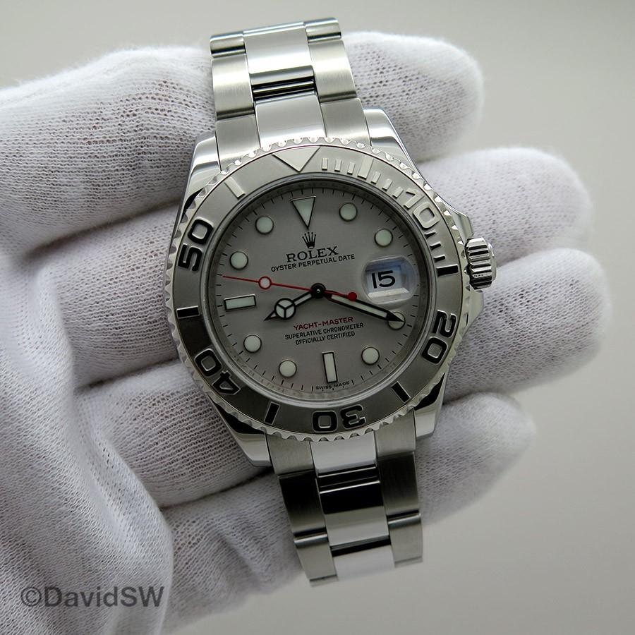 65106bd6c3a Rolex 16622 40MM STAINLESS STEEL PLATINUM YACHTMASTER-RANDOM SERIAL (Rolex)