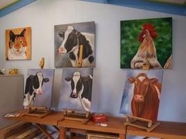 dierenschilderijen koeienschilderij schilderij koe