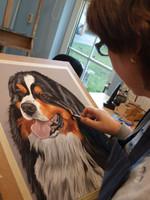 schilderij hond kat opdracht