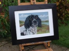 schilderij opdracht hond