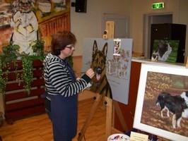 hondenschilderij in opdracht