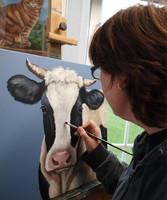 koeienschilderij schilderij koe