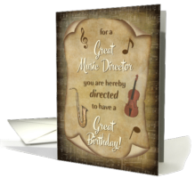 Music Director Birthday Card