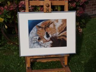 schilderij kat opdracht kattenschilderij