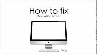 Fix White Screen error in Mac OS X