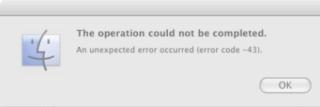 Mac finder errorcode 43