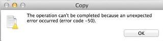 How To Fix mac copy error code 50