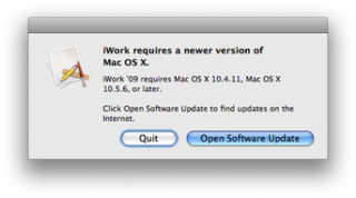iwork error