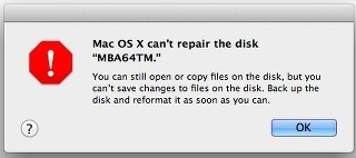 Volume File System error