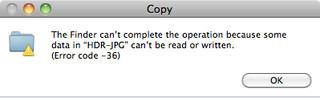 Error Code 36 on Mac