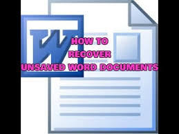 Recover unsaved word document 2007