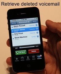 How to retrieve deleted voicemail on iPhone