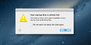 Macbook Startup Disk Full Error