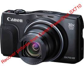 Recover pictures from Canon PowerShot SX710