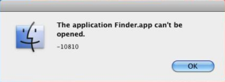 The Application Finder.app Can't be Opened 10810
