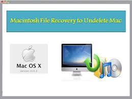 Undelete Macintosh Files