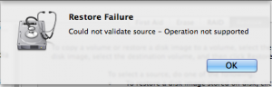 Disk Utility Cannot Validate Source