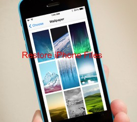 Restore iPhone files