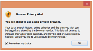 Browser Privacy Alert Pop-Ups